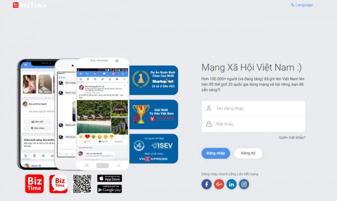Mạng xã hội Biztime Việt Nam